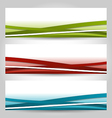 Set abstract colorful banners with lines vector image vector image