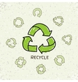 Set of hand drawn doodle recycle reuse vector image vector image