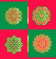 set of snowflakes hand drawn stars vector image vector image
