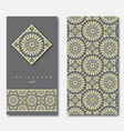 set of two cards for greeting invitation wedding vector image vector image