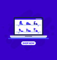shoes store landing page template fashionable vector image vector image