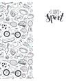 sport doodles poster vector image