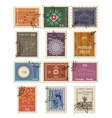 Stamp set for sale vector image vector image