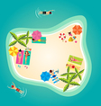 Summer holiday in tropical ocean island vector image vector image