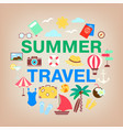 summer travel icon set vacation holidays and vector image vector image