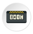 Taximeter icon flat style vector image vector image