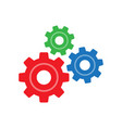 three gear sign simple icon on background vector image vector image