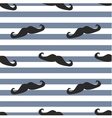 Tile moustache sailor blue white background vector image vector image