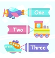 Transport toy banners vector image vector image