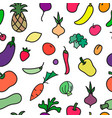 vegetables print seamless pattern vector image vector image
