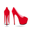 womens red patent leather shoes vector image
