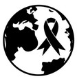 world cancer day icon vector image