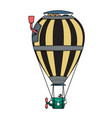 steampunk colorful hot air balloon vector image