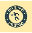 The emblem fast delivery vector image