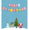 Merry Christmas Snowfall Christmas characters vector image