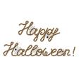 Happy halloween greeting vector image
