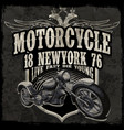 motorcycle typography vintage motor t-shirt vector image