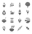 Olives icons black vector image