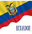 10 august ecuador independence day background vector image