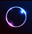 abstract banner template with bright circle vector image
