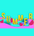 abstract wavy summer paper cut background with vector image