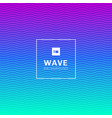 abstract wavy wave lines pattern on vibrant color vector image