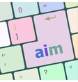 aim word with key on enter keyboard vector image vector image