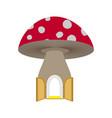 amanita home fabulous open door to mushroom vector image vector image