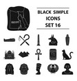 ancient egypt set icons in black style big vector image vector image
