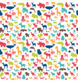 animals silhouettes seamless pattern cute vector image vector image