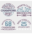 athletic nyc logo typography t-shirt graphics vector image vector image