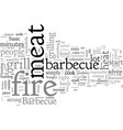 barbecue tips for better taste vector image vector image