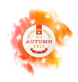 big autumn sale best choice circle banner vector image vector image