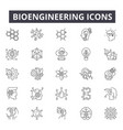 bioengineering line icons for web and mobile vector image vector image