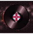 British vinyl record on metallic honeycomb vector image vector image