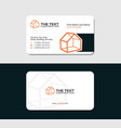 business card for the warehouse vector image