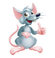 cartoon rat vector image vector image
