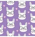 cartoon seamless cute bunny pattern scandinavian vector image vector image