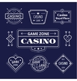 Casino logo icons set Poker cards or game vector image