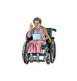 caucasian elderly woman disabled person in a vector image vector image
