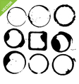 circles grunge coffee cup vector image vector image