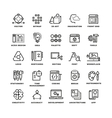 Creative process and tools line icons set vector image