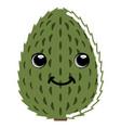 cute soursop emoticon vector image vector image