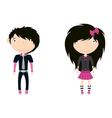 cute trendy emo boy and girl vector image vector image