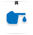 diabetes blue icon blood drop to glucose test vector image