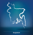 Doodle Map of Bangladesh vector image vector image
