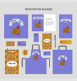 elements corporate identity for restaurant vector image vector image