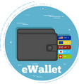 ewallet concept in line art style vector image vector image