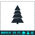 Fir tree icon flat vector image vector image