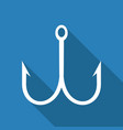 fishing hook icon vector image